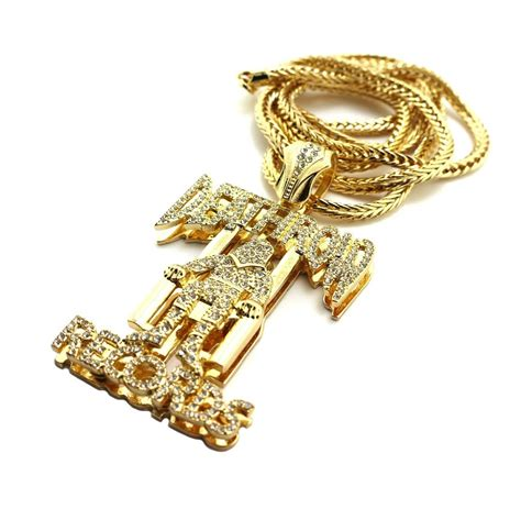 Row Records Chain Replica New Iced Out Deathrow Records Pendant