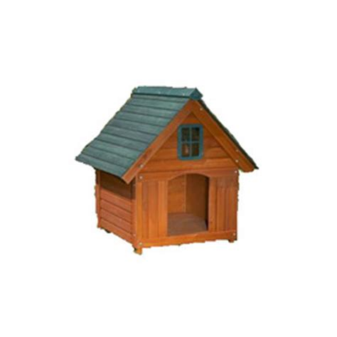 large cedar dog house shop leisure time products large cedar dog house at lowes com