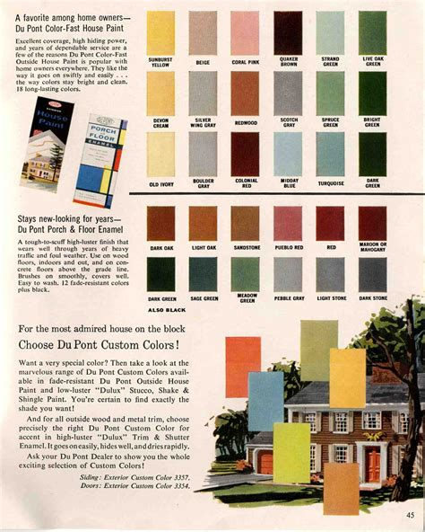 house colors interior exterior colors for 1960 houses retro renovation