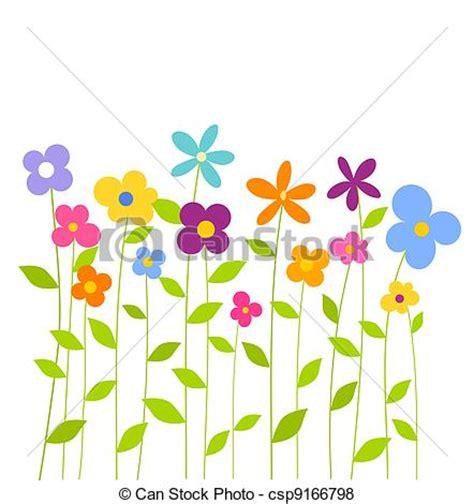 imagenes de vectores lineales vector de primavera flores colorido alegre fantas 237 a