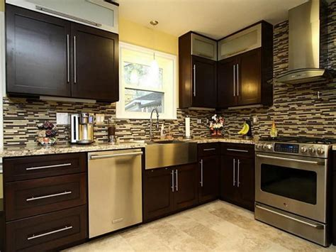 Kitchen Remodeling Black Brown Kitchen Cabinets Kitchen