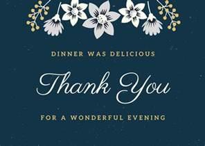 thank you note for thanksgiving dinner dinner thank you notes free thank you card wording