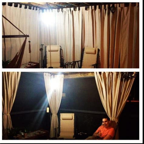 Outdoor Cabana Curtains Diy Cabana Curtains With Curtain Rod Outdoor Curtains Twine And Weights At Bottom For Wind