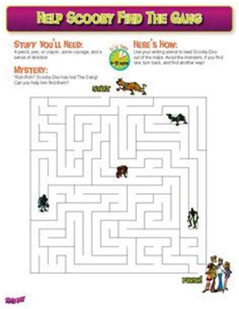 printable scooby doo activity sheets scooby doo activity sheets hľadať googlom scooby doo