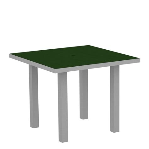 Green Patio Table Polywood Textured 36 In Silver Square Patio Dining Table With Green Top At36fasgr The
