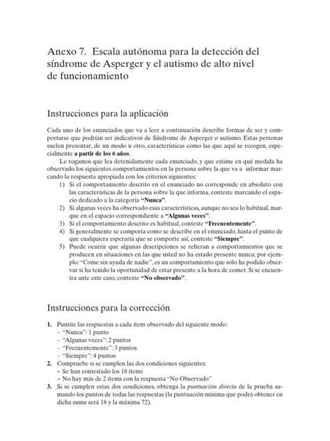 Escala Autonoma Asperger | Síndrome de Asperger | Autismo