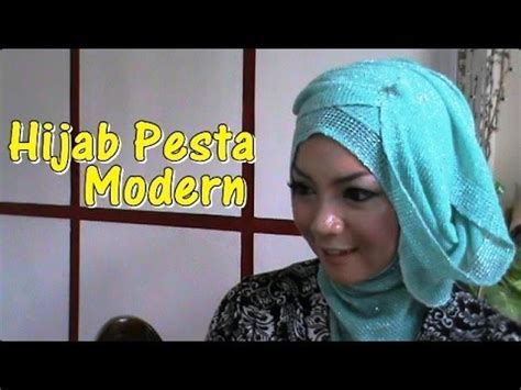 tutorial kerudung pesta youtube tutorial hijab pesta pernikahan modern dan simple by revi