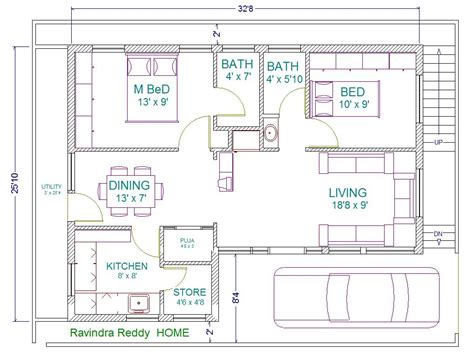 Vastu House Plan East Facing 2 Bedroom House Plans As Per Vastu