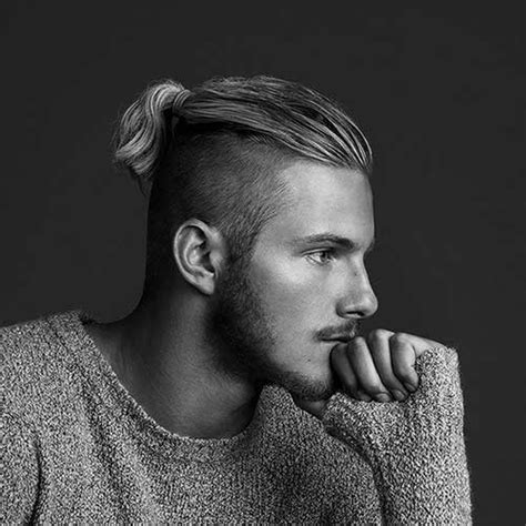 hair cuts men long hair shaved side bun 15 men s shaved hairstyles mens hairstyles 2018
