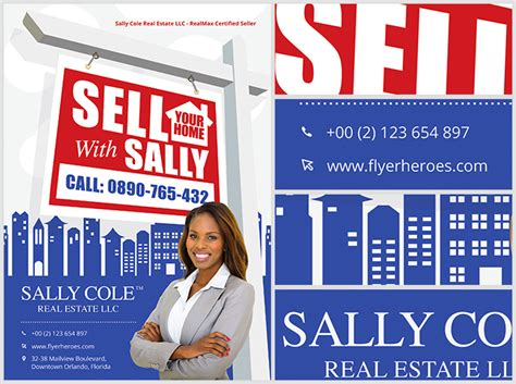 sell your home realtor flyer template flyerheroes