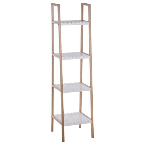 etagere 4 niveaux 201 tag 232 re de salle de bain quot bambou quot 4 niveaux blanc