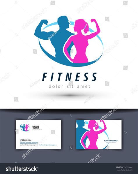 Fitness Vector Logo Design Template Gym Stock Vector 314799068 Shutterstock Fitness Logo Design Templates