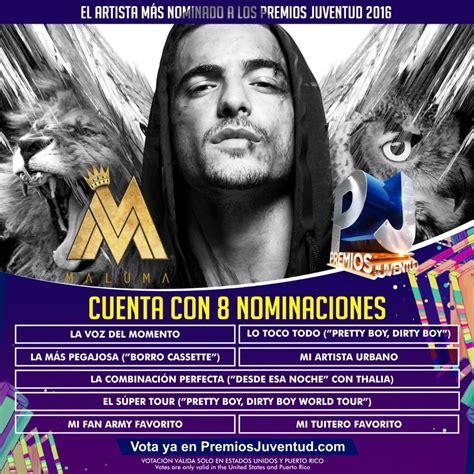 las canciones de maluma la nueva del 2016 maluma comanda lista de nominados a premios juventud