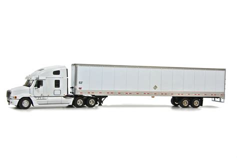 trailer images freightliner century w wabash box trailer white dhs