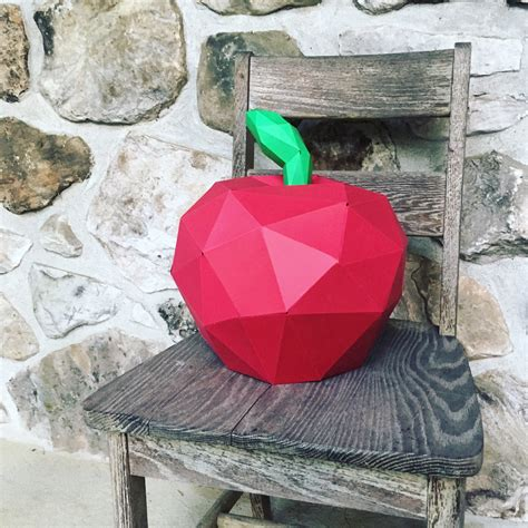 Apple Papercraft - apple 3d papercraft you get a pdf digital template and