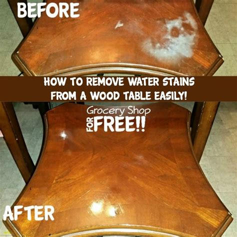 how to remove water stains from wood table top how to remove water stains or burns from a wood table easily