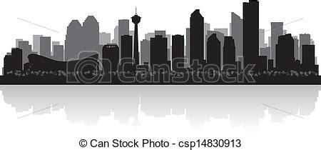 Calgary Outline by Vector Clip Of Calgary Canada City Skyline Vector Silhouette Calgary Csp14830913