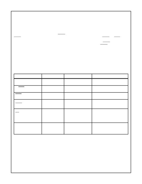 frequency table template blank frequency table template