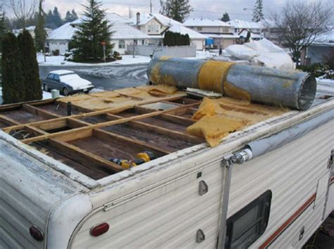 rv trailer water damage repair cers pinterest