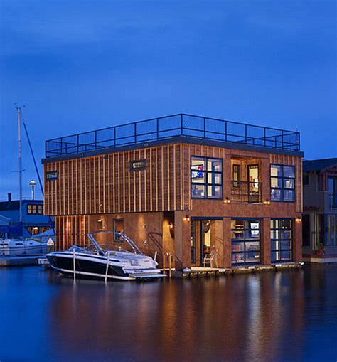 Container Home Interiors Stunning Houseboats For Aquatic Living