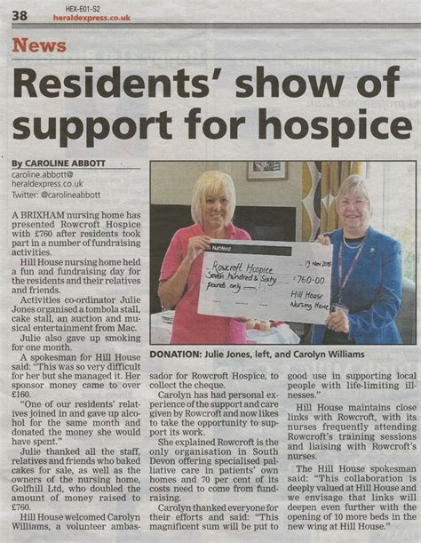 home articles news from hill house nursing home