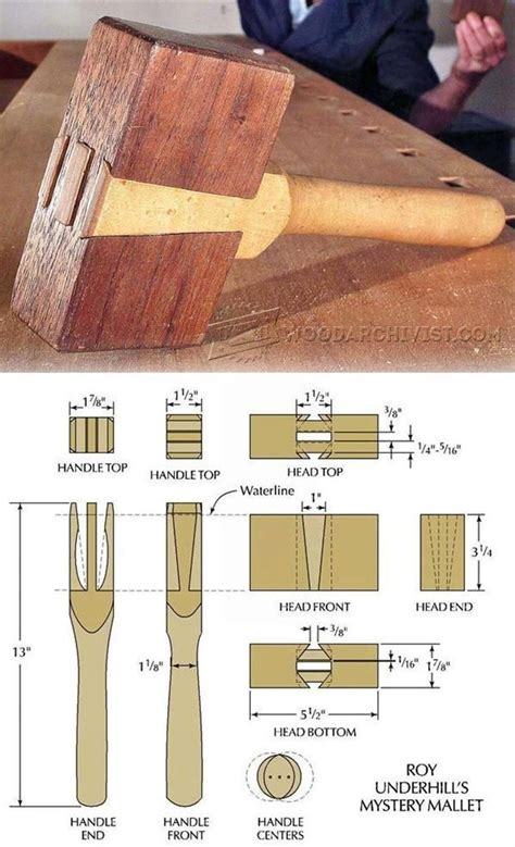woodworking mallet plan wood mallet plans tools tips and techniques