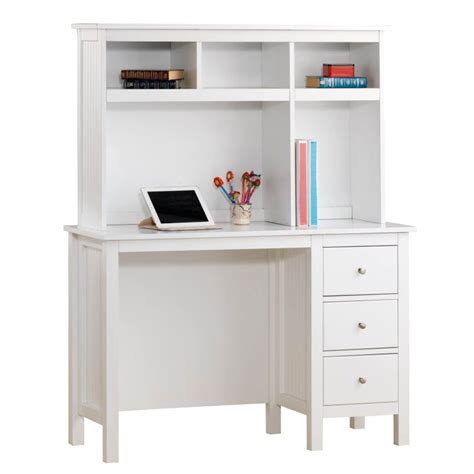Children S Desk With Hutch Lilydale Study Desk W Hutch Drawers In White Buy Desks
