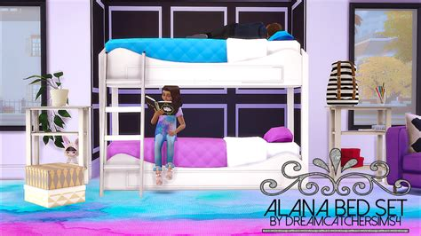 the sims 4 bed cc my sims 4 blog alana bed set by dreamcatchersims4