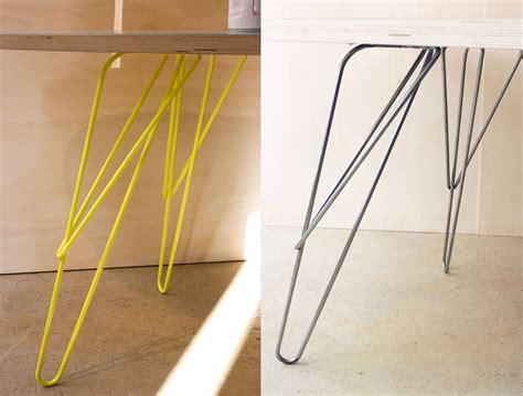 pieds pour bureau w design hairpin table leg