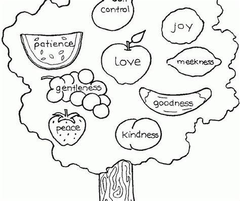 fruits of the spirit coloring page coloring home