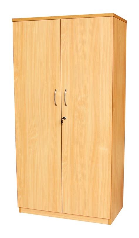 Tall Office Cupboard in Beech or white (1800mm)