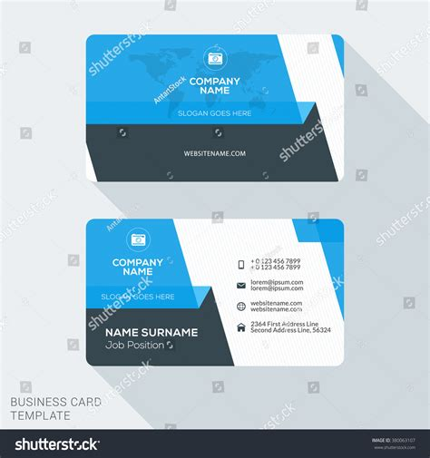 Business Card Appointment Clean Template Design Illustrator by Creative Clean Business Card Template Flat Stock Vector