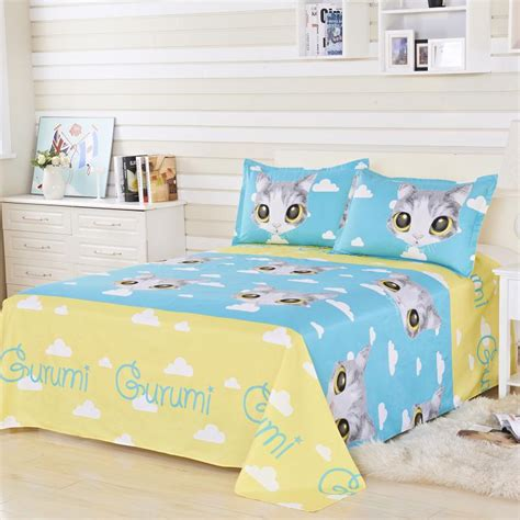 cat bed sheets hot sale twin full queen size cat bed set quilt duvet
