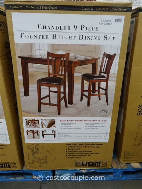 regal living regal living chandler 9 piece counter height dining set