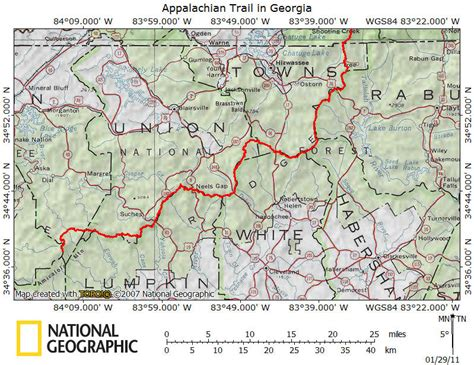 appalachian trail section maps at section hiking georgia section