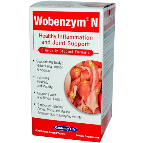 Wobenzym, Wobenzym N, Healthy Inflammation and Joint Support, 400 Enteric Coated Tablets   iHerb.com