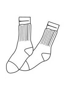 free coloring pages of shoes with socks