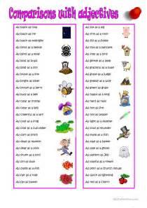 Printable Grammar Worksheets Comparison With Adjectives Worksheet Free Esl Printable
