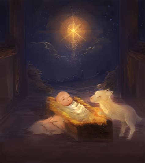 baby jesus manger baby jesus in the manger by yesho10 on deviantart