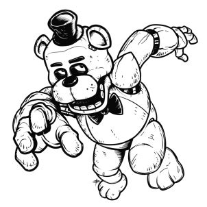 five nights at freddy s coloring book great coloring pages for and adults unofficial edition books how to draw freddy fazbear five nights at freddys step