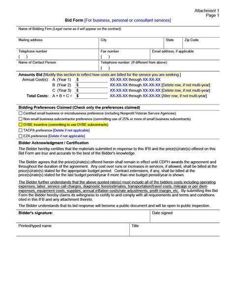 31 Construction Proposal Template Construction Bid Forms Construction Rfp Template