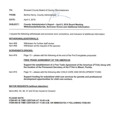Memo Meeting Template Sle Meeting Memo Template 9 Free Documents In Pdf Word