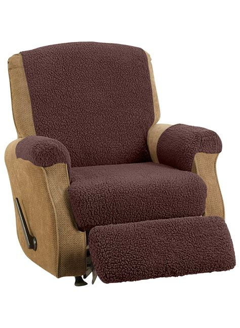 recliner footrest cover fleece recliner cover set carolwrightgifts com