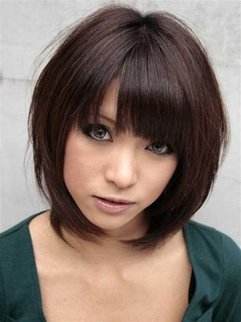 brunette bob hairstyles with bangs 20 inverted bob hairstyles http www short haircut com