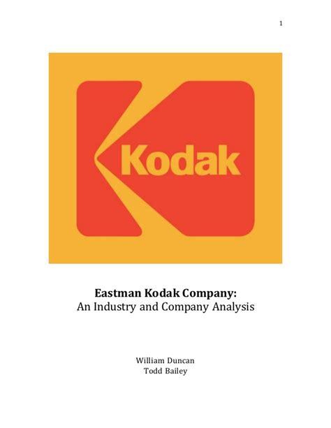 eastman kodak eastman kodak analysis