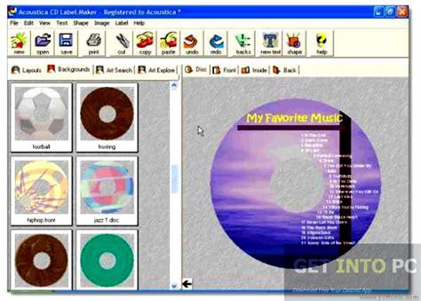 graphic design label making acoustica cd dvd label maker free download