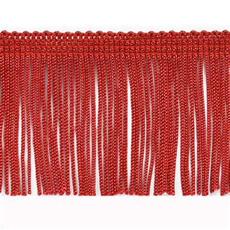 upholstery fringe 2 quot chainette fringe trim red discount designer fabric