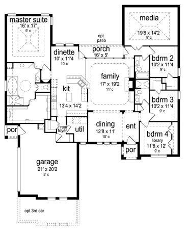 house plans with media room ooooh the kids on one side of the house with that media room being playroom and the