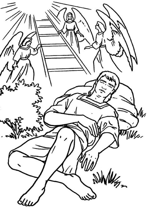 free bible coloring pages jacob s ladder ladders and in jacob and esau coloring page