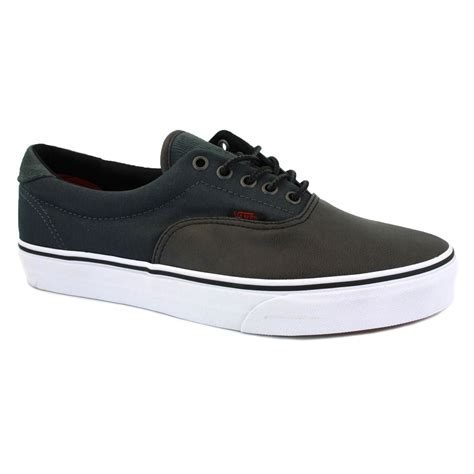 Vans Era 59 Grey vans era 59 exd76g unisex laced leather textile trainers black grey